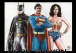 Batman v Superman: Dawn of Justice Retro version by hardgalvan