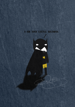 Tiny little batman. by melodicmemor-y
