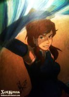 Korra Traditional Draw In A Table by SolKorra