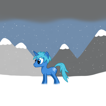 Snowing by ColdSnapPony