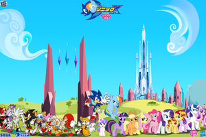 Sonic and My Little Pony : The Dark Rising by trungtranhaitrung
