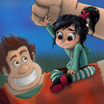 Ralph and Vanellope: Best Chumbos by FunkMonkey777