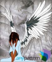 Bowing Angel- 16 x 19-WL by anypattern