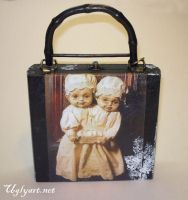 Conjoined Twins Collage Purse by uglyshyla