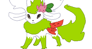 Flareon-Shaymin Large by DJ-Catsume