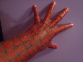 marker glove- spiderman by Endeavor4ever