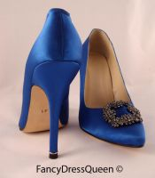 Something Blue Sex and the City Shoes by fancydressqueen