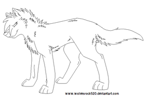 FREE WOLF LINEART by Wolvesrock520