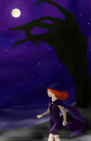 Witch Walking by WolfPawDragonClaw