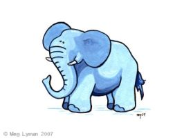 Cute Elephant by MegLyman