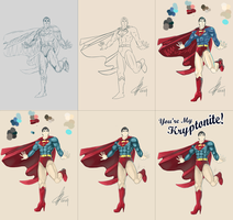 Superman Step by Step. by enixyy