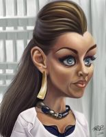 Caricature of Vanessa Williams by darknight06