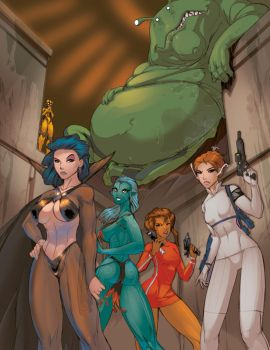 How To Draw Alien Babes + Princesses Cover by FredGDPerry