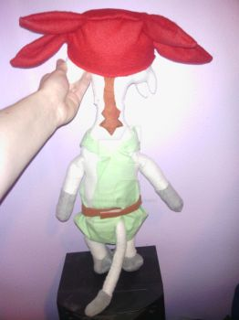 Meow plushie from Space Dandy (back) by MissNotSoAverage