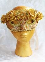 Gold Queen Masquerade Mask Revisited by DaraGallery