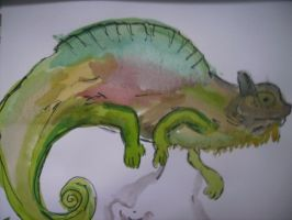 Cameleon painting by SatineChristian