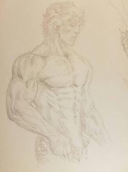 Sexy topless dude by ebas