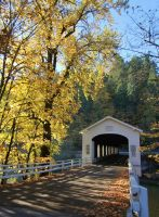 Covered bridge entrance by finhead4ever