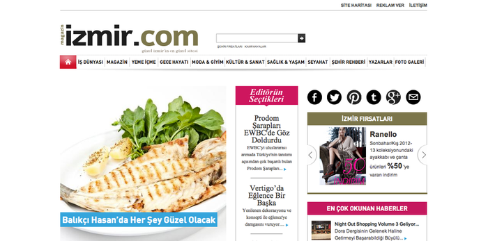 Magazinizmir Magazine Website by grafiket