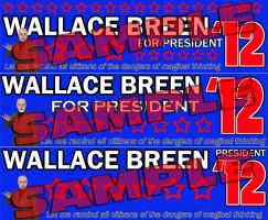 Wallace Breen for President Bumper Stickers by ChrisInVT