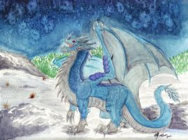 Night of the Blue Dragon by WyvernFlames