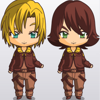 Chibi Starbuck and Apollo by CloudyRose06