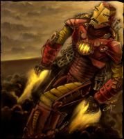 Steampunk Iron Man by flylanddesigns