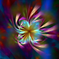 Flower Emerging From Chaos II by baba49