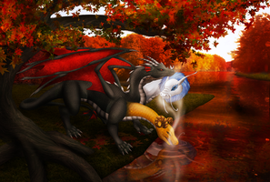 Commission - Autumn Hydra by Cryophase