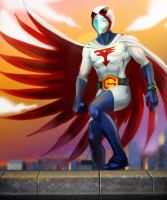Ken The Eagle from Gatchaman. by victter-le-fou
