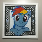 Hey There! (Rainbow Dash Cross Stitch) by Lahirien