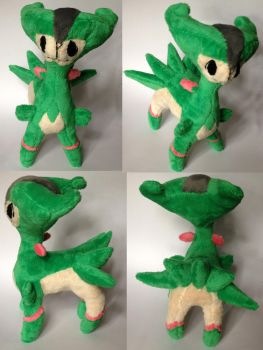 Virizion Pokemon Time  Plush by Pannsie
