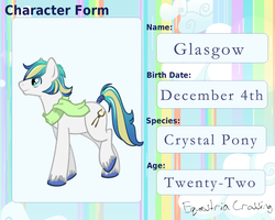 CHARACTER APP:: GLASGOW by SILK-RIBBON