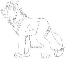 Wolf Lineart by Amicarrow