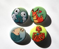 more ghibli buttons by michellescribbles