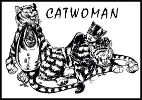 Catwoman and Tigers by Galaxia