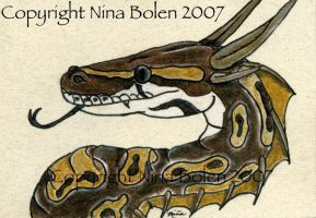 Ball Python Dragon by The-GoblinQueen