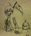 Kyu in the cemetery by Luciph