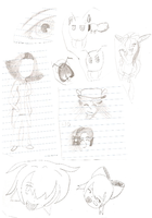 Notebook Doodles #1 by Victoria-Firewriath