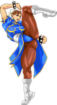 Chun li leg up Pixel by Providenceangle