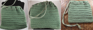 Knitted n kumihimo bag by Tarliman