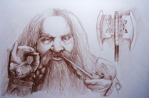 Gimli, Son of Gloin by phantomphreaq