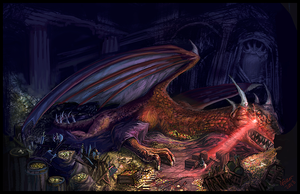 Crafty Smaug by Fallonart
