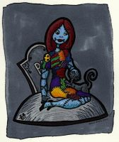 Sally and a cat by nighte-studios