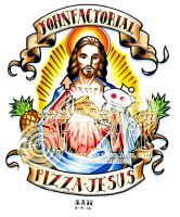 Pizza Jesus by S-Hirsack