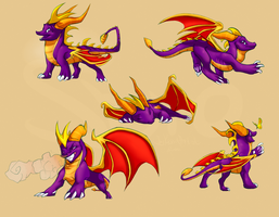 some Spyro by kyander