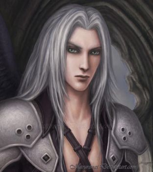 Sephiroth _ FF _ detail by marurenai
