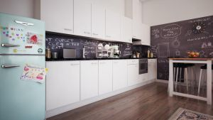 Hague Apartment Living kitchen by angelofernandes