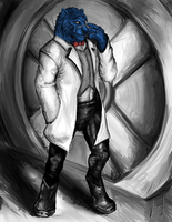 Hank McCoy by Howlitzer