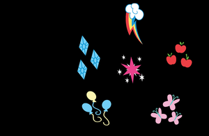 Simple Mane 6 Cutie Mark Background by DeviantDalton